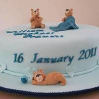 Christening Cake Something cute for a boy for a Christening was all I was told. Chocolate Mud cake as the flavour. Very happy customers.