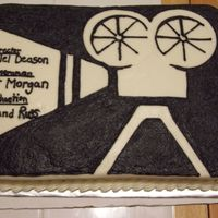 Old Fashion Movie Projector Graduation Cake Black/white