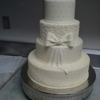 Wedding Cake   this wedding cake is one of my favorites with custom bow and unique design