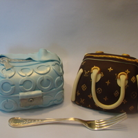 Chanel And Lv Bag Cakelets 6 servings each....BIG CAKELETS