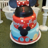 Paige This Cake was made for my adorable Niece, Paige, she LOVES Mickey Mouse Clubhouse