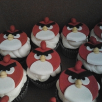 Red Angry Bird Cupcakes
