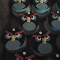 Black Angry Bird Cupcakes These Cupcakes were made for my good friend Amy's son, Carson