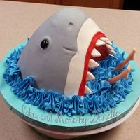 Shark!!!   Shark Cake and White chocolate Molded Monster High Legs