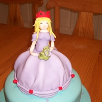 Princess And The Prince gum paste princess and prince. chocolate cake, covered in mm fondant