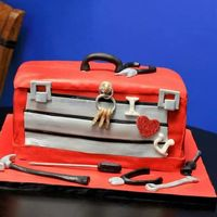 Tool Boxchocolate Cake With Gumpaste Tools Tool box.Chocolate cake with gumpaste tools