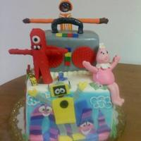 Yo Gabba Gabba   A Yo Gabba Gabba cake for my besties daughter's 1st birthday. All the characters are fondant.