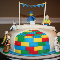 Legos Cake Legos birthday cake. all figures are made with fondant