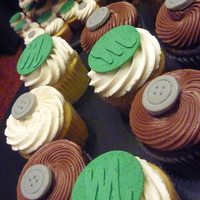 Chocolate And Vanilla Wedding These were for a wedding with the color scheme of kelly green and grey. The Ms win circles were from the invitation and the buttons...