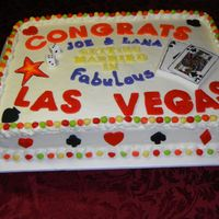 Vegas Wedding Shower Cake