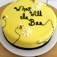 Bee Baby Shower Gender Neutral bumblebee baby shower cake for a mom who didn't find out the sex