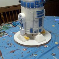 R2D2 The general how-tos for this was written here http://desertbootswallabeesandmynewsneakers.blogspot.com/2011/10/latest-cake.html . Don'...