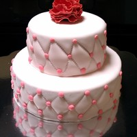 Birthday Cake 2 mini tier bc cake with carnation as a topper.