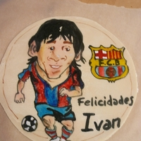 Topper Painted Messi