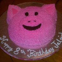 Pink Pig A pig cake! I forgot how hard and time consuming the star tip is!! :-)
