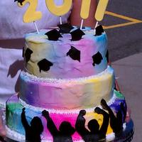 Rainbow Graduation This was for a kindergarten graduation. Idea from 2011 wilton yearbook. The cake was rainbow batter and people were really impressed and...