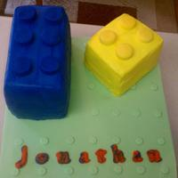 Legos All buttercream with fondant accents.