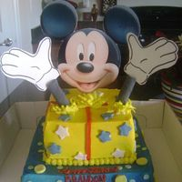 Mickey Mouse Buttercream with fondant accents! :0)