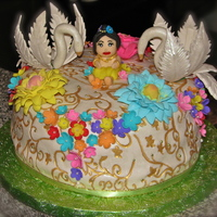 Baby Krishna's Cake   My first try in making the swan. I didn't have any molder, everything is free hand (^_^)
