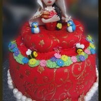 Radha Indian Princess Cake I need to work on the face especially the eyelashes :)