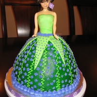 Tinkerbell Inspired Cake   I made this for a neighbor's daughter turning 4. It was fun!