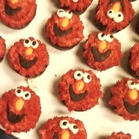 Elmo Cupcakes Chocolate Cupcakes buttercream