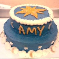 Celestial Cake  I made this for a friend's b-day. I made it really quickly because I didn't have more than a few hours because of work. It's...