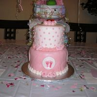 Footprint Baby Shower This was the cake from hell. I iced the whole thing in BC but hated it so I went out and got fondant to cover it. The fondant didn't...