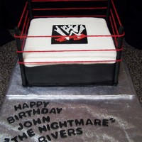 "Wwe Wrestling For my grandson's 6th birthday. He's a BIG ""WWE"" fan and even has his own wrestling name (given to him by his aunt!)...."