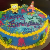 Spongebob Display Cake I put this cake up as a display in my shop. It's gotten alot more attention than I ever thought it wouyld!