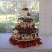 Cupcake Wedding Fall wedding cupcake cake