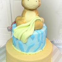 Giraffe Baby Shower fondant jungle print with a rct giraffe
