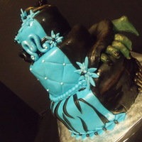 2 Sided Alter Ego Birthday girl wanted blue diva style but grandmal wanted a witch!