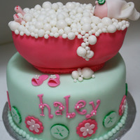 Spa Party Bubble Bath Cake