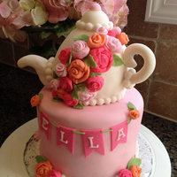 Tea Pot Tea Party Cake With Rice Krispy Treat Tea Pot   Tea pot Tea party cake with rice krispy treat tea pot.