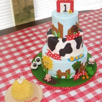 Farm 1St Birthday Cakes