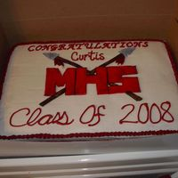 Monogram Arrows This is the cake that I made for my brother-in-law's high school graduation.