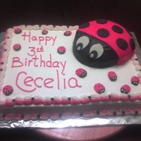 Lady Bug!!!   love this cake!! fondant and buttercream