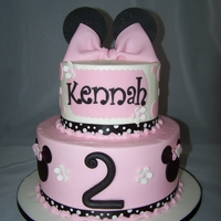 Minnie Mouse Birthday Cake 9 & 6 rounds