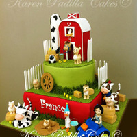 Farm Cake   Amazing Farm Cake for a very special kids, all figures are made in sugar paste.