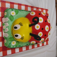 Ladybug Cake Made for my daughter's 5th birthday Ladybug Theme Party. Combined ideas from various ladybug cakes on this site, and from a stuffed...