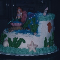 Ariel The Little Mermaid Copied from another cake on this site--great idea!
