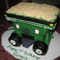Hopper/gravity Wagon For my son's birthday. When researching for this cake, I had no luck in finding pictures of hopper wagons made into cake. ; ( So I...