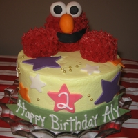 Elmo My niece is big fan of Elmo, so I found this great cake made by Polkadots (Flickr) Thanks for the inspiration! All buttercream with fondant...