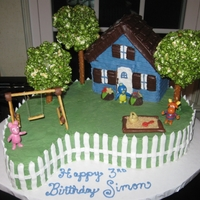 The Backyardigans Birthday cake for my son who loves the Backyardigans. I got great ideas for the design of this cake from Mightydragon663,StandingForJesus,...