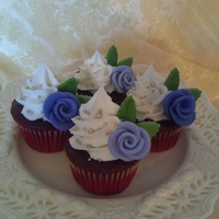 Lavender Roses W/silver Dragees Bridal Shower cupcakes for my cousin. All buttercream w/ three different sizes of dragees. MMF leaves & Duff style roses. I would love...