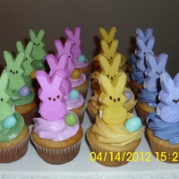 A Herd Of Bunnies Made for my husband's family for Easter. All buttercream with marshmallow bunny peeps & peanut m & m's. Inspired by...