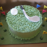 Golf Lover   my cousin's boss loooooves golf so this was for him.bc frosting everything else fondant