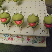Kermit The Frog First try at Kermit cake pops (idea obviously from Bakerella).