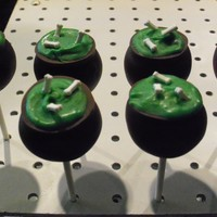 Witch Caldron   witch caldron cake pops